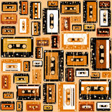 Cassette tape pattern. Royalty Free Stock Images
