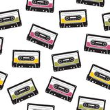 Cassette tape pattern Stock Photography