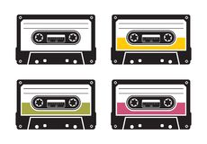 Cassette tape pattern Royalty Free Stock Photos