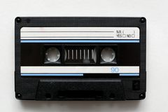 Cassette tape, retro audio cassette. Cassette tapes, retro audio cassettes. music media royalty free stock images
