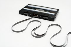 Cassette tape, retro audio cassette. Cassette tapes, retro audio cassettes. music media royalty free stock photography