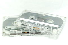 Cassette Tape. The Retro Cassette tape for record and playback music royalty free stock photos