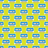 Cassette tape seamless pattern Royalty Free Stock Image
