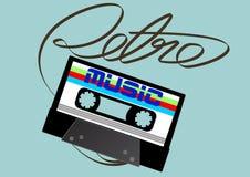 Cassette tape. Vector illustration of an audio cassette tape Stock Images