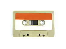 Cassette tape. On white background stock photography