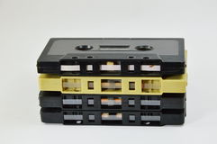 Cassette tape. On white background Royalty Free Stock Photos