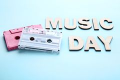 Inscription Music Day royalty free stock photos
