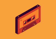 Cassette tapes. Isometric  design Stock Image