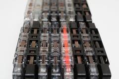 Cassette tapes, retro audio cassettes stock photo