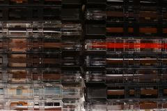 Cassette tapes, retro audio cassettes royalty free stock photo