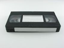 Cassette vidéo avec des étiquettes Image stock