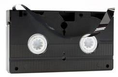 Cassette vidéo cassée Photos stock