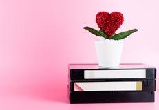 Cassette vidéo pour le titre Romance de film d'amour Photographie stock