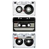 Cassette viejo tres aislado en blanco Imágenes de archivo libres de regalías