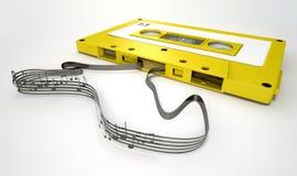 Cassetteband en Muzieknotenconcept royalty-vrije illustratie