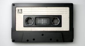 Cassetteband en Muzieknotenconcept stock illustratie