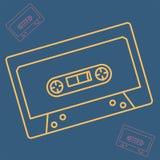 Cassettepictogram in overzichtsstijl royalty-vrije illustratie
