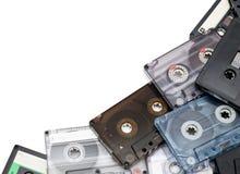 Cassettes audios imagen de archivo libre de regalías