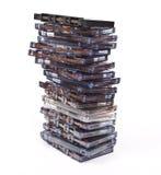 Cassettes audios de la pila foto de archivo