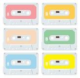 Cassettes audios en blanco Foto de archivo libre de regalías
