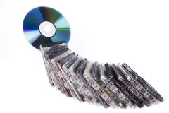 Cassettes with CD Royalty Free Stock Photography