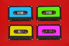 cassettes colores four tape Στοκ φωτογραφίες με δικαίωμα ελεύθερης χρήσης