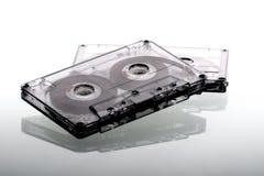 Cassettes de la cinta de audio - puestos a contraluz Imagen de archivo