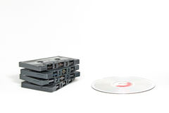 Cassettes vs CDs Stock Image