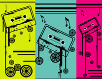 Cassettevector composition Royalty Free Stock Photography
