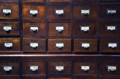 Cassetti di legno Fotografie Stock