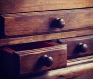 Cassetti di legno vecchi Fotografia Stock Libera da Diritti