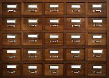 Cassetti etichettati Fotografia Stock