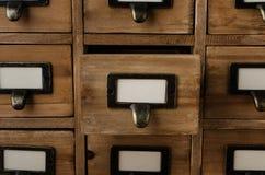 Cassetto aperto di indice di carta fotografia stock