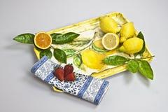 Cassetto con la frutta Fotografia Stock Libera da Diritti
