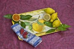 Cassetto con la frutta Fotografie Stock