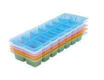 Cassetto congelato del cubo di ghiaccio fotografia stock