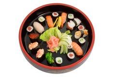 Cassetto dei sushi freschi Fotografia Stock Libera da Diritti