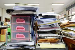 Cassetto del Governo e vassoio di documento del cavo Immagini Stock