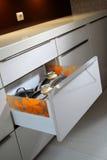 Cassetto della cucina Fotografie Stock