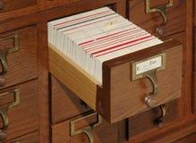 Cassetto di archivio del catalogo della scheda immagine stock