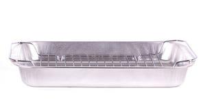 Cassetto di cottura di alluminio. immagini stock libere da diritti