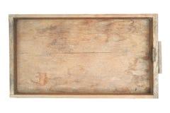 Cassetto di legno dell'armadietto Fotografie Stock