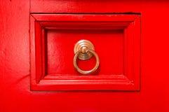 Cassetto rosso fotografia stock