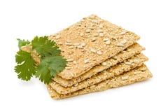 Casseurs de fromage avec des graines de tournesol Images stock