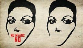 Cassez la violence d'arrêt de silence contre la femme Photos libres de droits