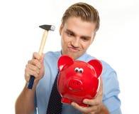 Cassez le piggybank Image libre de droits