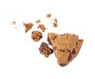 Cassez les biscuits avec des morceaux de chocolat Photos stock