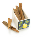 Cassia bark in spice box Royalty Free Stock Image