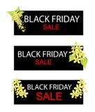 Cassia Fistula Flowers sull'insegna di vendita di Black Friday Immagini Stock