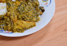 Cassia tree curry with mackerel Stock Image